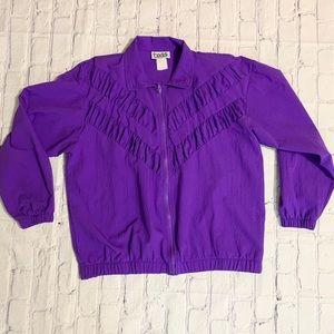 Vintage 90's Purple Ruched Bomber Jacket by Teddi